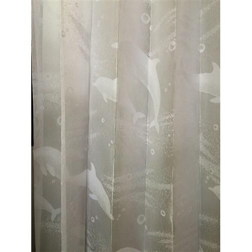 「レースイルカさん」 約100cm×176cm 2枚入 ホワイト