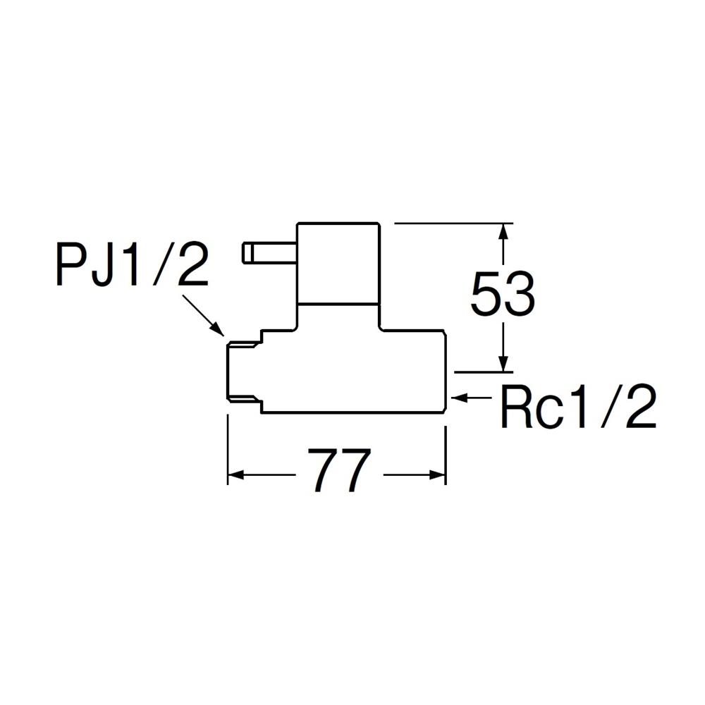 SANEI 【化粧バルブ】 ハンドル式 V2161−13