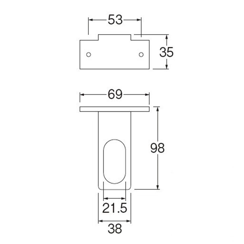SANEI 【止水栓用金具】 止水栓ブラケット L R641T-L