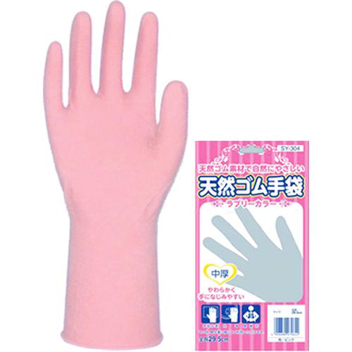 鈴与興業 ラブリーカラー中厚手手袋 SY-304 L ピンク