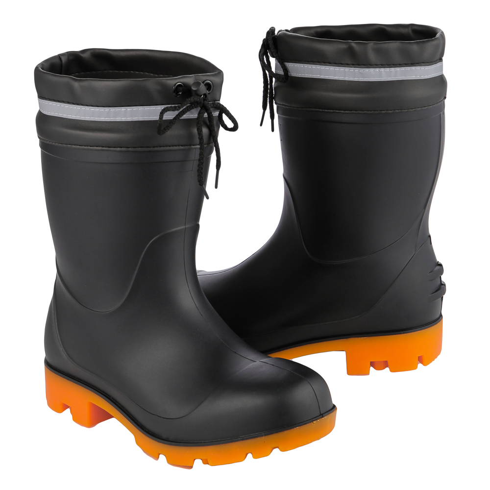 コーコス信岡 PVC耐油安全長靴 HG-985 L ブラック