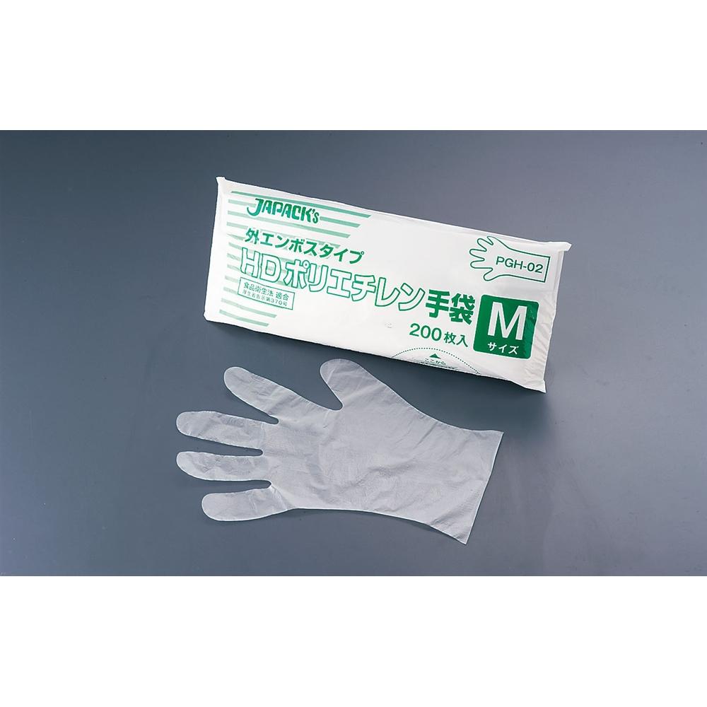 ジャパックス HDポリエチレン手袋 PGH−03 L(200枚入)