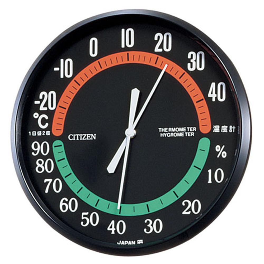 シチズン 温湿度計 TM−42 黒