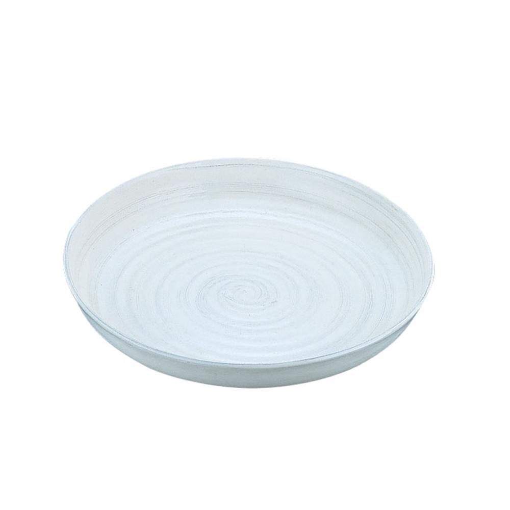 アルミ電磁用ドラ鉢 白刷毛目 尺0