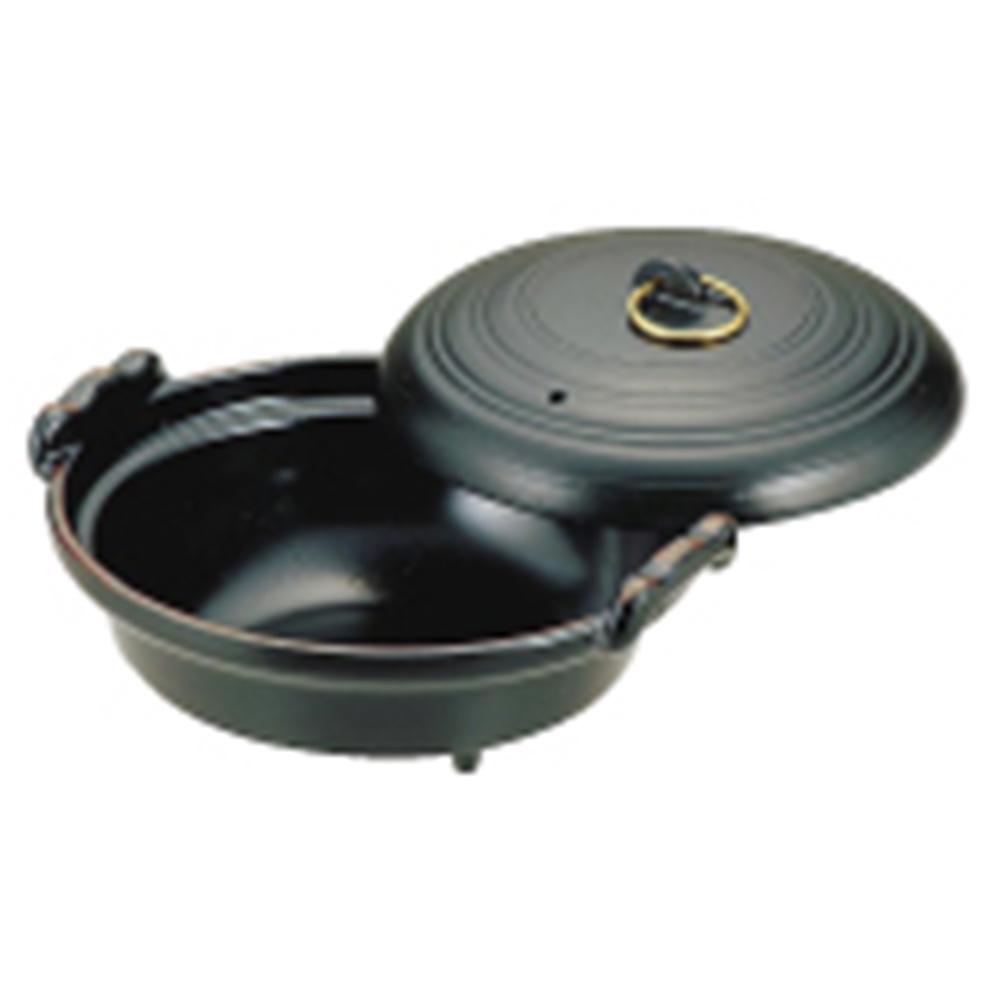 アルミ水炊鍋(黒天目) 16cm