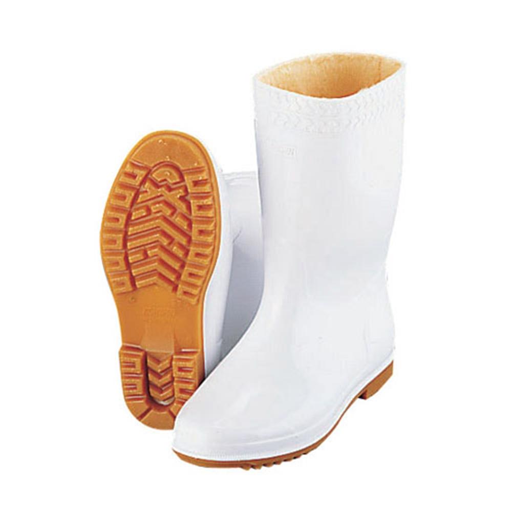 弘進 防寒ゾナ耐油長靴P 白 28cm (ウレタンパイルボア裏)