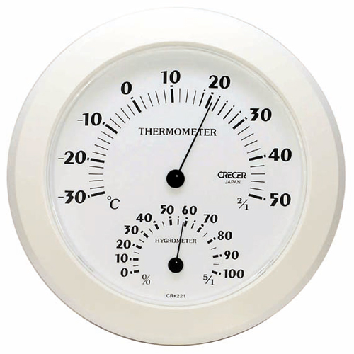 CRECER 温湿度計 ホワイト CR−221W