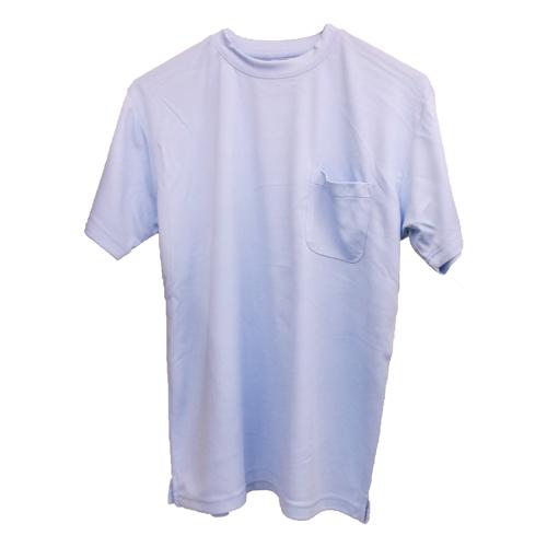 紳士半袖丸首Tシャツ スカイブルー M FS13−KHT−B