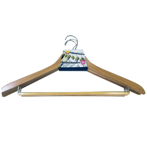 木製スリムハンガー 3P NA