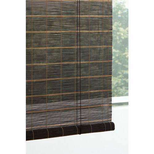 竹ロールアップスクリーン ブラウン/ブラック 約幅88×120cm