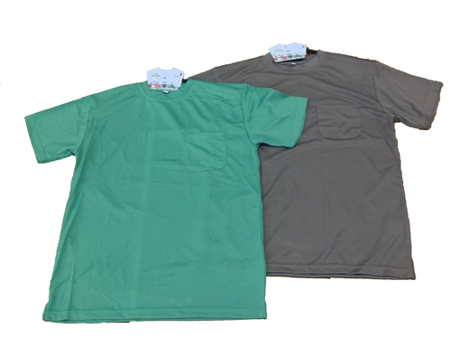 吸汗速乾紳士半袖丸首TシャツM FS13−KHT−F ダークグレー