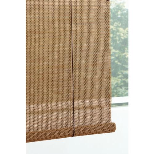 竹ロールアップスクリーン ブラウン 約幅88×120cm