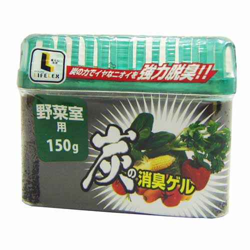 炭の消臭ゲル 野菜室用 150g