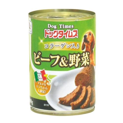 ドッグタイムス缶 ビーフ&野菜 400g