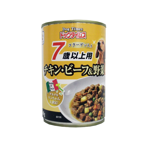 ドッグタイムス缶 7歳以上用 チキン・ビーフ&野菜 400g