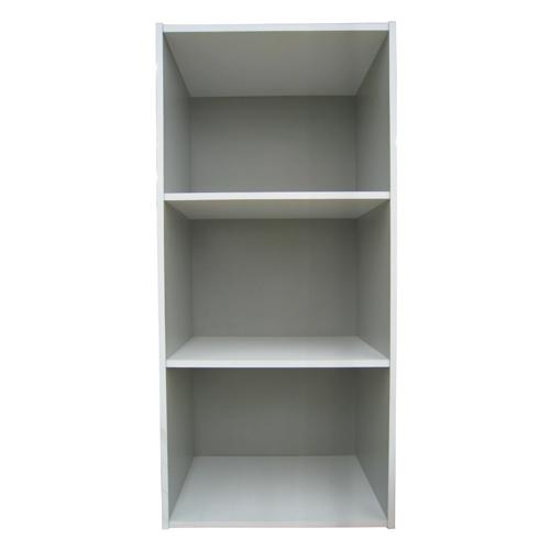 3段カラーボックス グレー/ホワイト