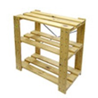 コーナンオリジナル 木製ラック3段(無塗装)WR1  約W60×D33×H60cm ※お客さま組立品