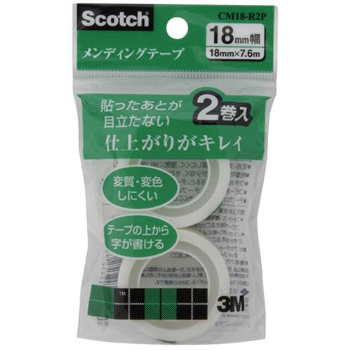 3M スコッチ メンディングテープ 替用 18mm×7.6m CM18−R2P