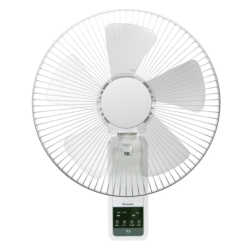 リモコン式壁掛け扇風機 30cm羽根 KCF−1730WR