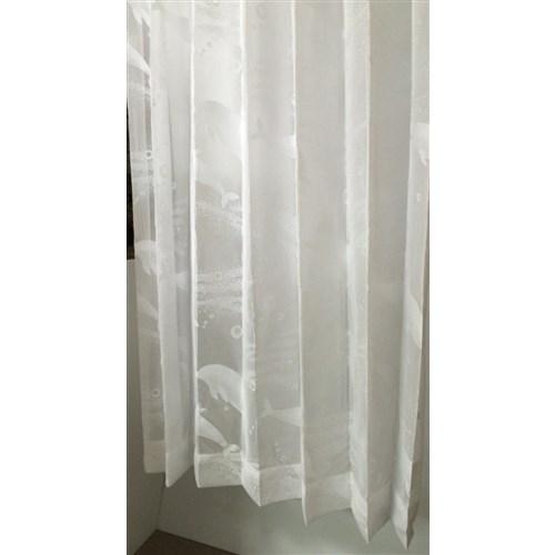 「レースイルカさん」 約100cm×133cm 2枚入 ホワイト