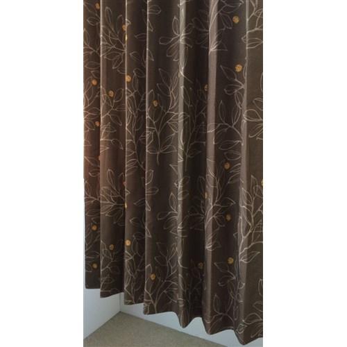 カーテンナッツ ブラウン 2枚入 約幅100×丈178cm