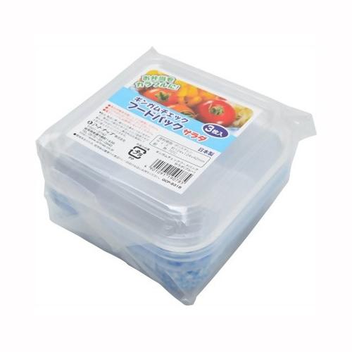 ギンガム発泡フードパック サラダ3PBL