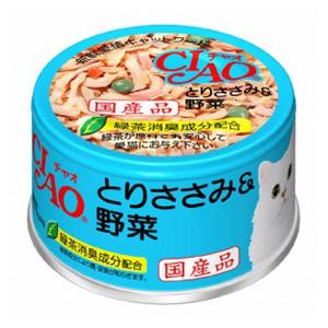 CIAO ホワイティ とりささみ&野菜 85g C−11