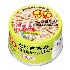 CIAO ホワイティ とりささみ(焼津産かつおだし入り)85g C−60