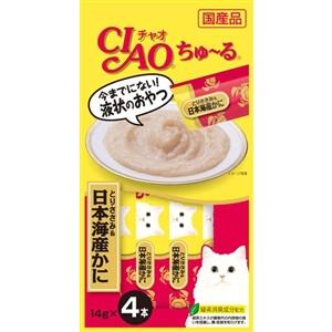 CIAO ちゅ〜る とりささみ&日本海産かに14g×4本