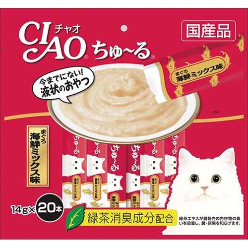 チャオちゅ〜る徳用 まぐろ 海鮮ミックス味20P