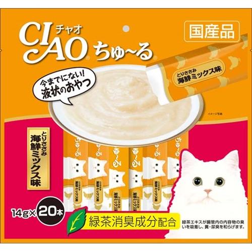 いなば チャオちゅ〜る徳用 ささみ 海鮮ミックス味20P