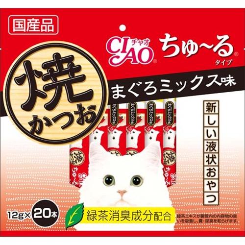 いなば 焼かつおちゅ〜る徳用 まぐろミックス味 20P