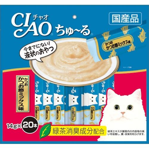 いなばP チャオ ちゅ〜る徳用かつお節 ミックス味 20P
