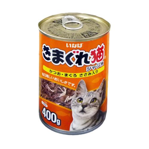 きまぐれ猫ジャンボ かつお・まぐろ ささみ入り400g