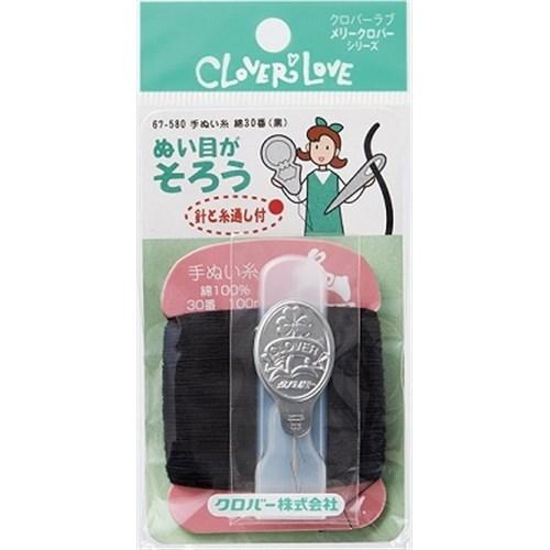 LM手ぬい糸綿 30番 黒 67−580