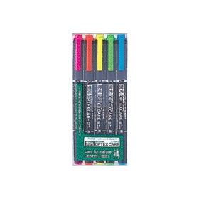 蛍光ペン 蛍光オプテックスケア 5色セット WKCR1−5C 343476