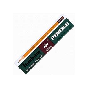 トンボ鉛筆2558(消しゴム付) HB 12本入 341637