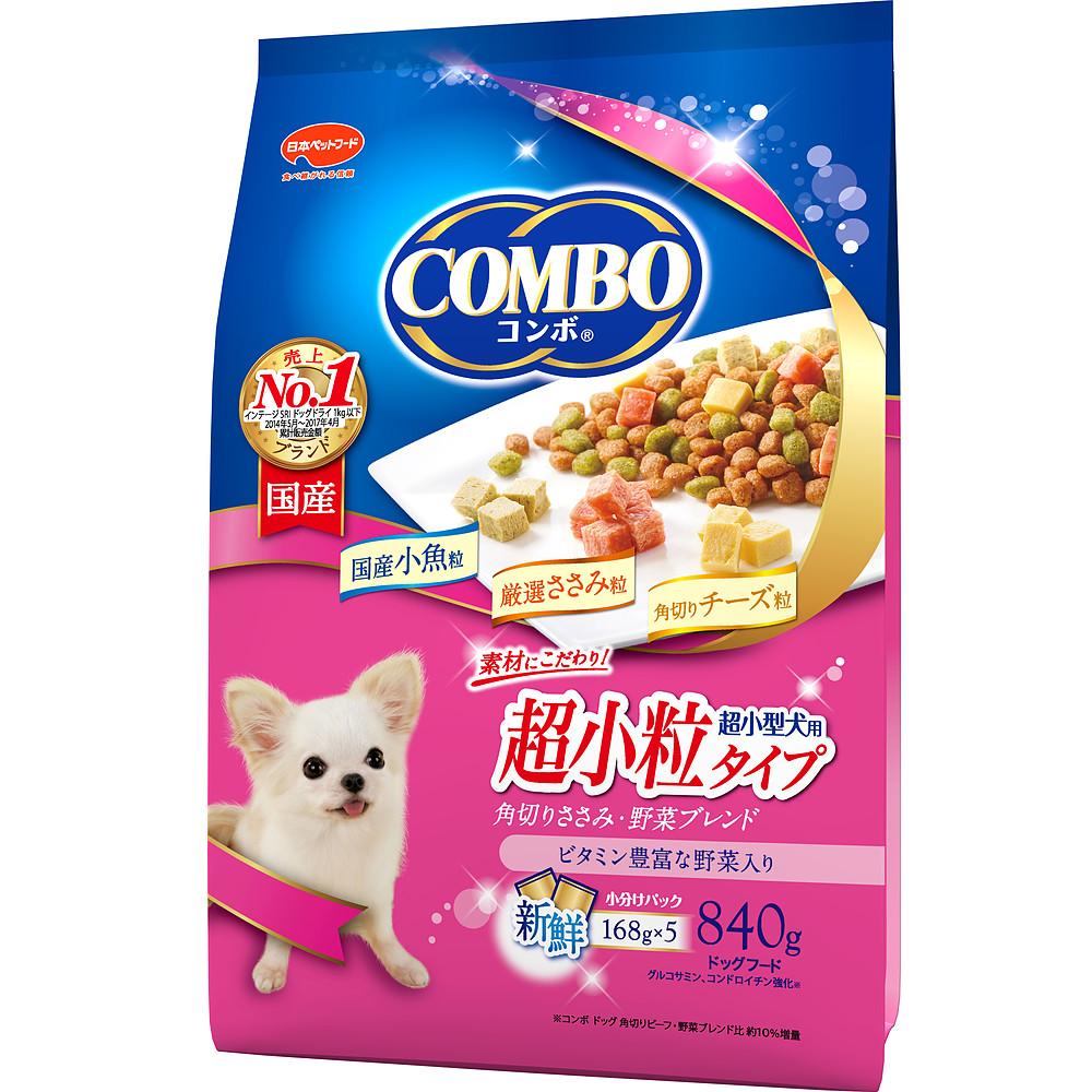 コンボ 超小型犬用 角切りささみ・野菜ブレンド 840g