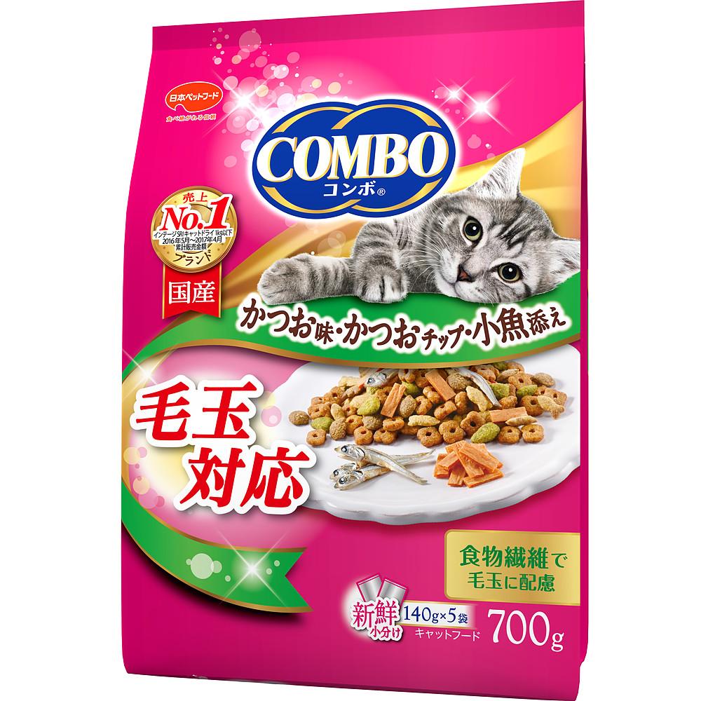 ミオコンボ 毛玉対応 かつお味・かつおチップ・小魚添え 700g