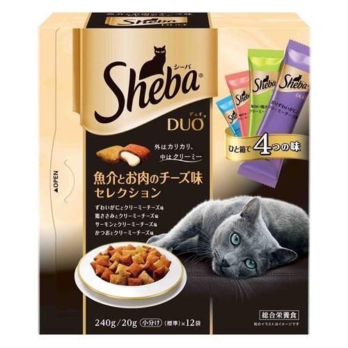 シーバデュオ 魚介とお肉のチーズ味セレクション 240g