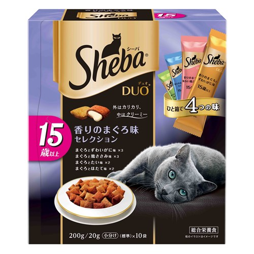 ◆シーバデュオ 15歳以上 香りのまぐろ味セレクション 200g