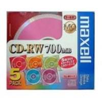 CDRW カラーミックス5枚