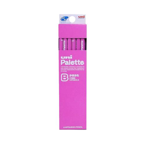 Palette かきかた鉛筆B 六角軸12本 ピンク
