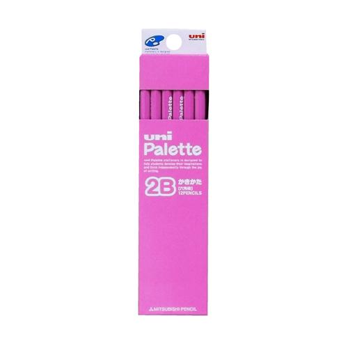 Palette かきかた鉛筆2B 六角軸12本 ピンク