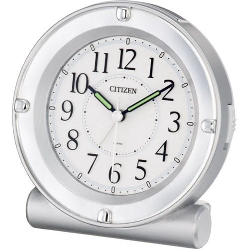 シチズン目覚まし時計 セリアRA18 シルバー