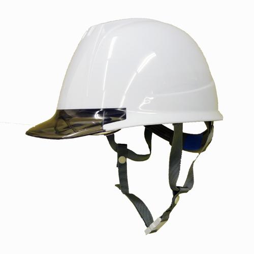 耐電ヘルメット 白/グレー 透明ひさしゴーグル付