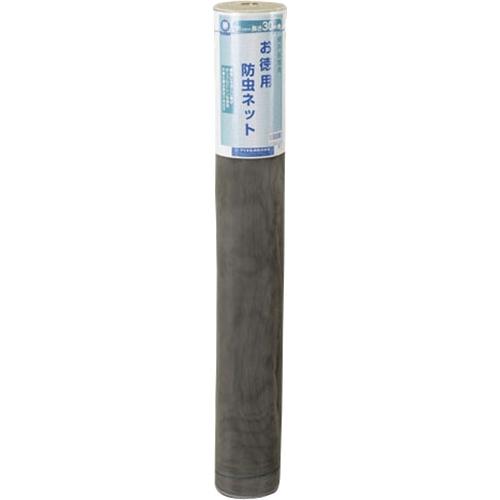 ダイオ化成 網戸用防虫ネット(網戸替網) 18メッシュ グレー 幅約91cm×30m巻                  グレー