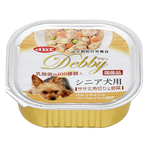 デビィ シニア犬用 ササミ角切野菜 100g