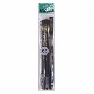 丸鉛筆 3P 6B