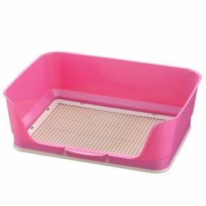 しつけ用ステップ壁付きトイレ レギュラー ピンク